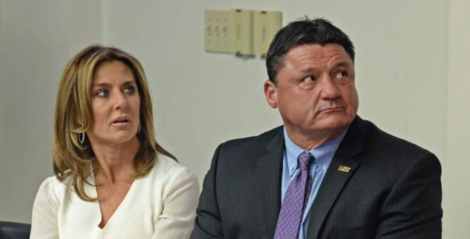 LSU coach Ed Orgeron files for divorce from wife, Kelly, after 23 years of marriage