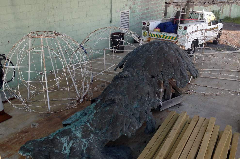Sculpture created for 1984 world's fair to be repaired for display in Kenner _lowres