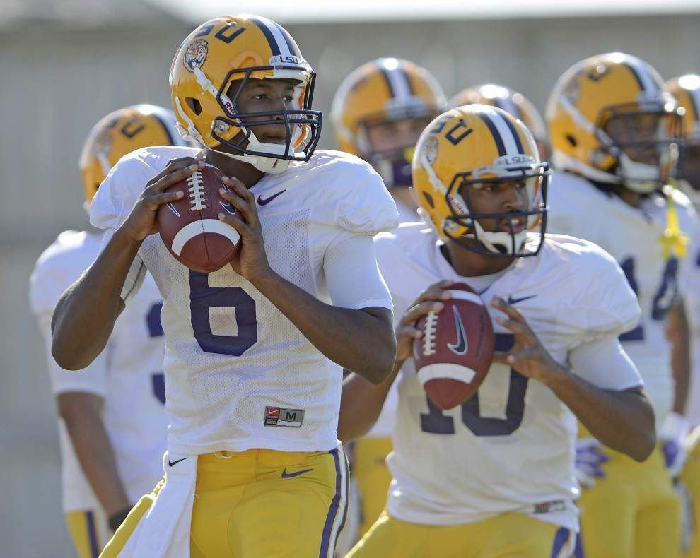 Is Les Miles sure that LSU quarterback Brandon Harris will start against McNeese State? 'Absolutely, you betcha' _lowres