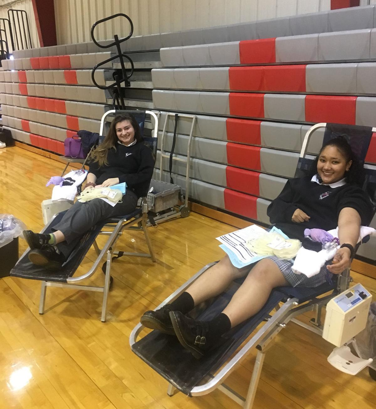 STM_Blood_Drive-Mikayla_Lawrence_and_Alexa_Gaudet