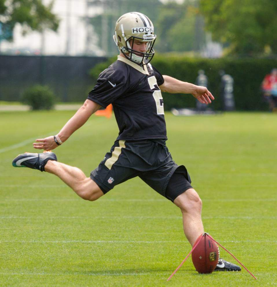 Old friends Dustin Hopkins, Zach Hocker now vying for same job as Saints kicker _lowres