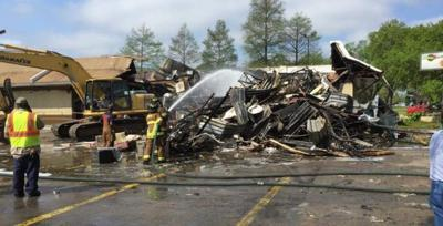 Video: McDonald's on Florida Boulevard a total loss after Monday morning fire _lowres
