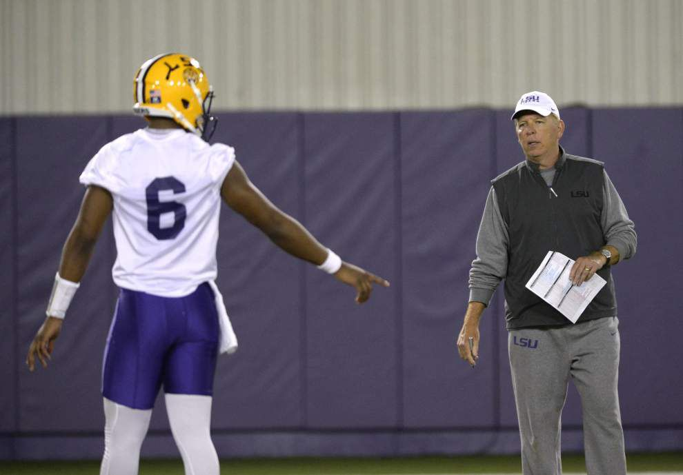 New drills, playbook additions, upperclassman QBs: LSU's offense is changing, coaches and players say _lowres