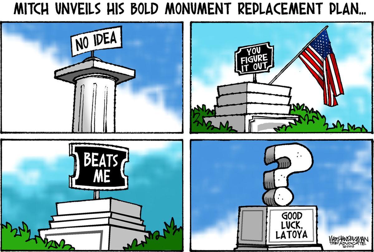 Walt Handelsman: Monuments Replacements