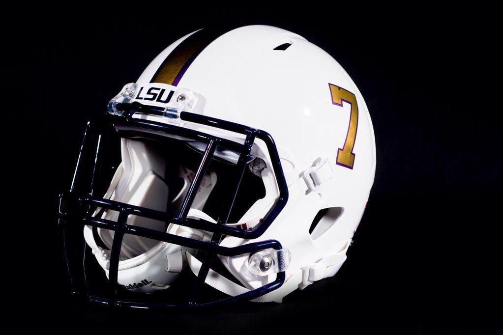 LSU white helmet