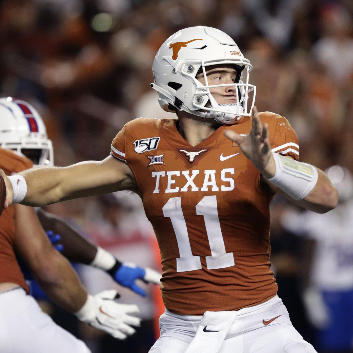 half off 242f6 24016 Texas Longhorns QB Sam Ehlinger on facing the LSU secondary ...