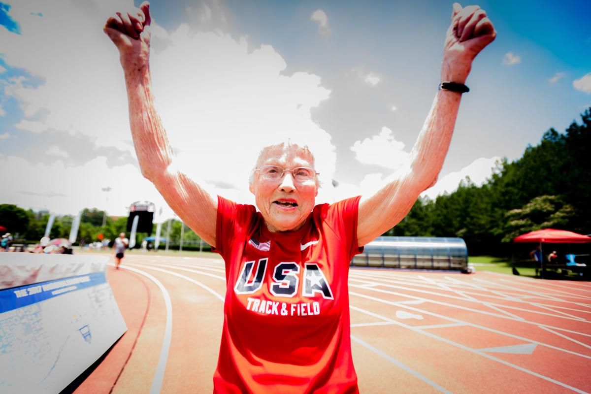 Image result for 103-Year-Old Nicknamed The 'Hurricane' Wins Gold Yet Again