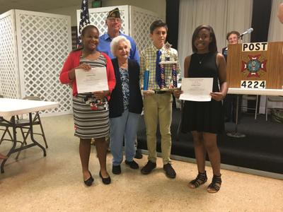 copper mill elementary students honored by vfw for essays baker