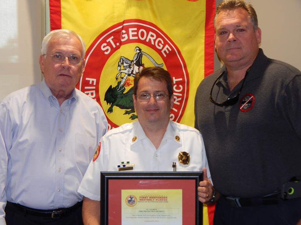 St. George Fire Department honored for seat belt pledge _lowres