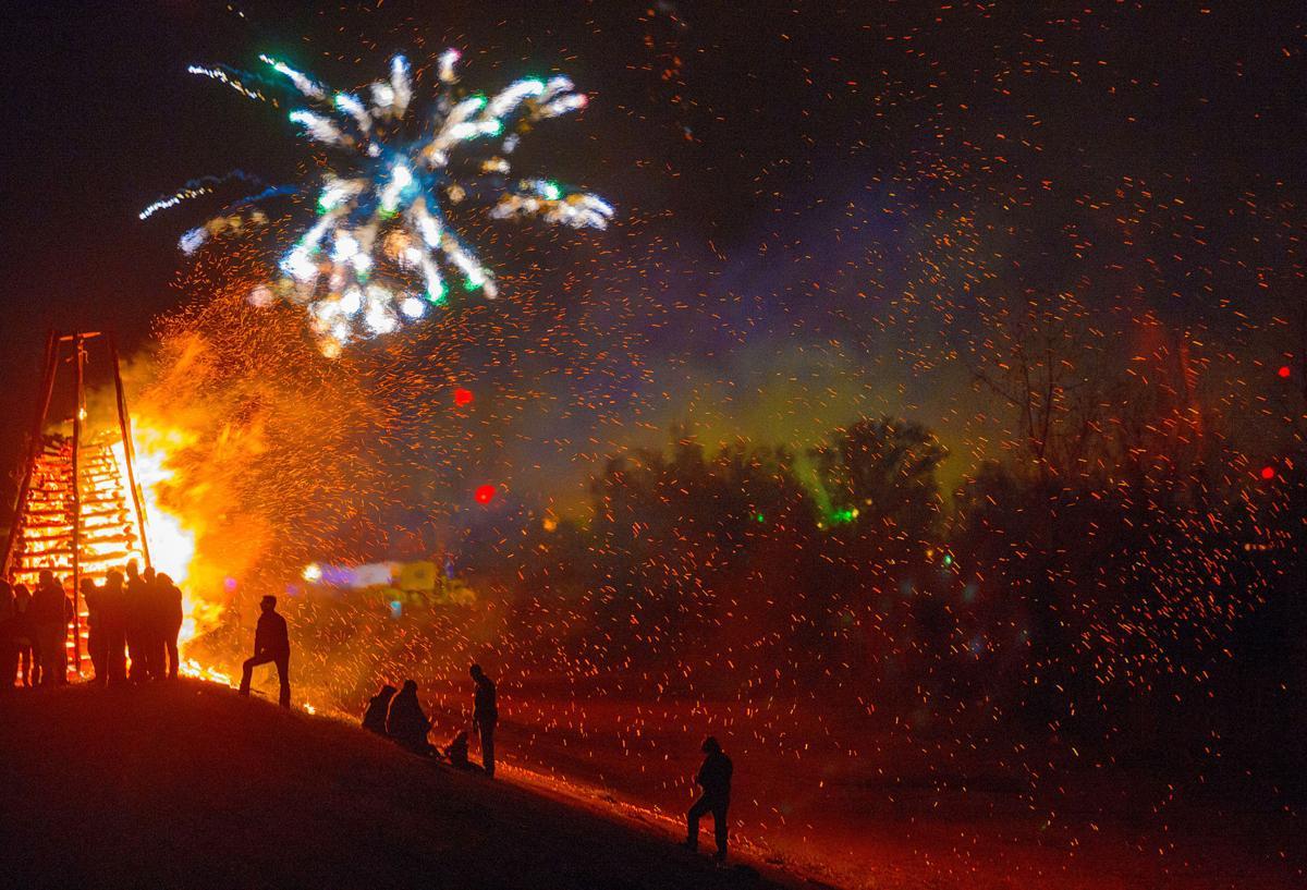 Photos, video: You\'ve never seen a Christmas Eve bonfire quite like ...