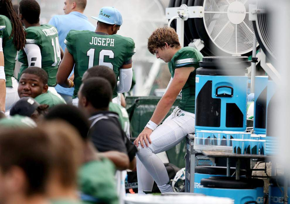Tulane coach Curtis Johnson says he's still holding out hope for quarterback Tanner Lee vs. UConn _lowres