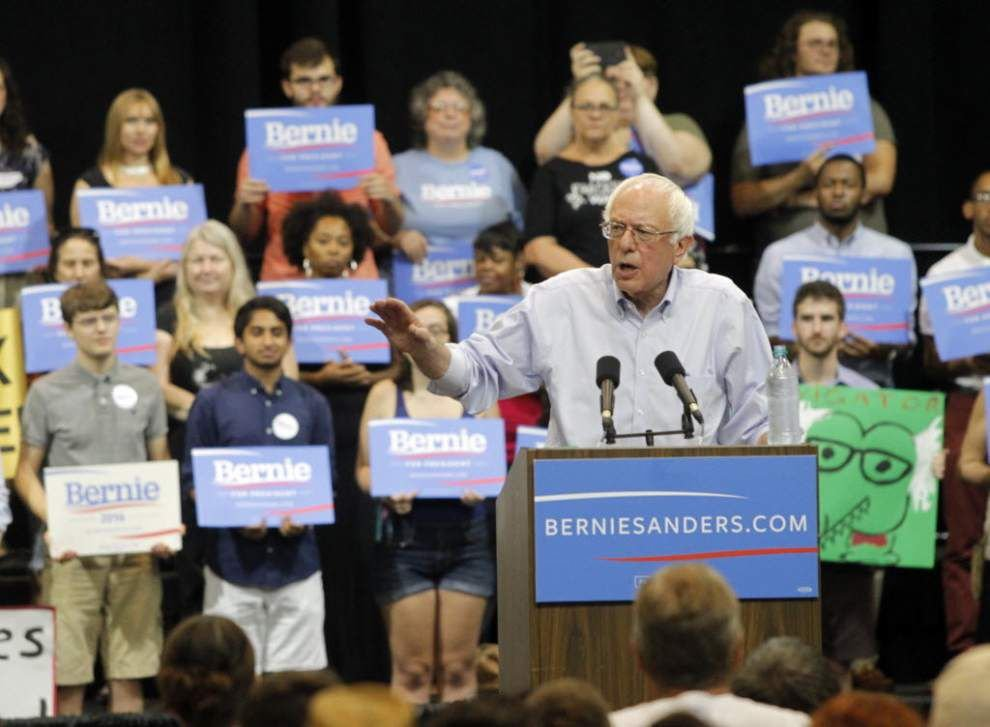 Stephanie Grace: Democratic candidate Bernie Sanders' message finds eager audience even in Louisiana, among reddest of red states _lowres
