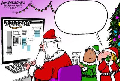 "Get on Santa's ""Nice List"" by writing the funniest punchline for Walt Handelsman's new Cartoon Caption Contest!!!"