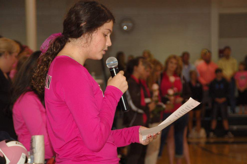 Dominican volleyball fans Paint the Pitt Pink for cancer patient relief fund _lowres