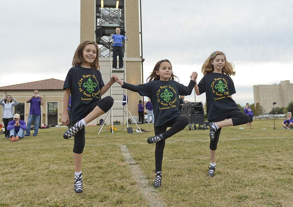 LSU Tiger Marching Band features Irish dance at Friday rehearsal _lowres