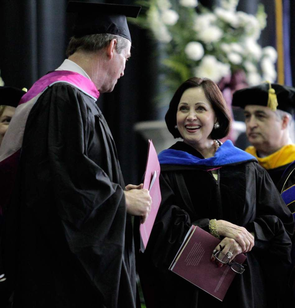 Gayle Benson tells graduates that life will always be difficult — but it's manageable with a steady faith _lowres