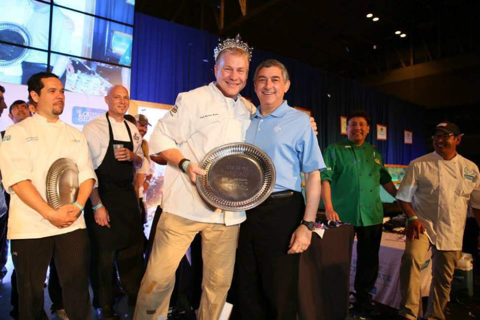 The Sammich owner Michael Brewer named King of Louisiana Seafood, says he almost spit out wine upon hearing news _lowres