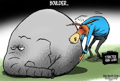 Walt Handelsman: Won't Budge