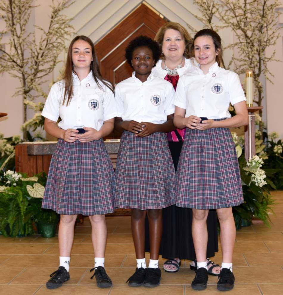 St. Francis Xavier Catholic School honors departing seventh-graders _lowres