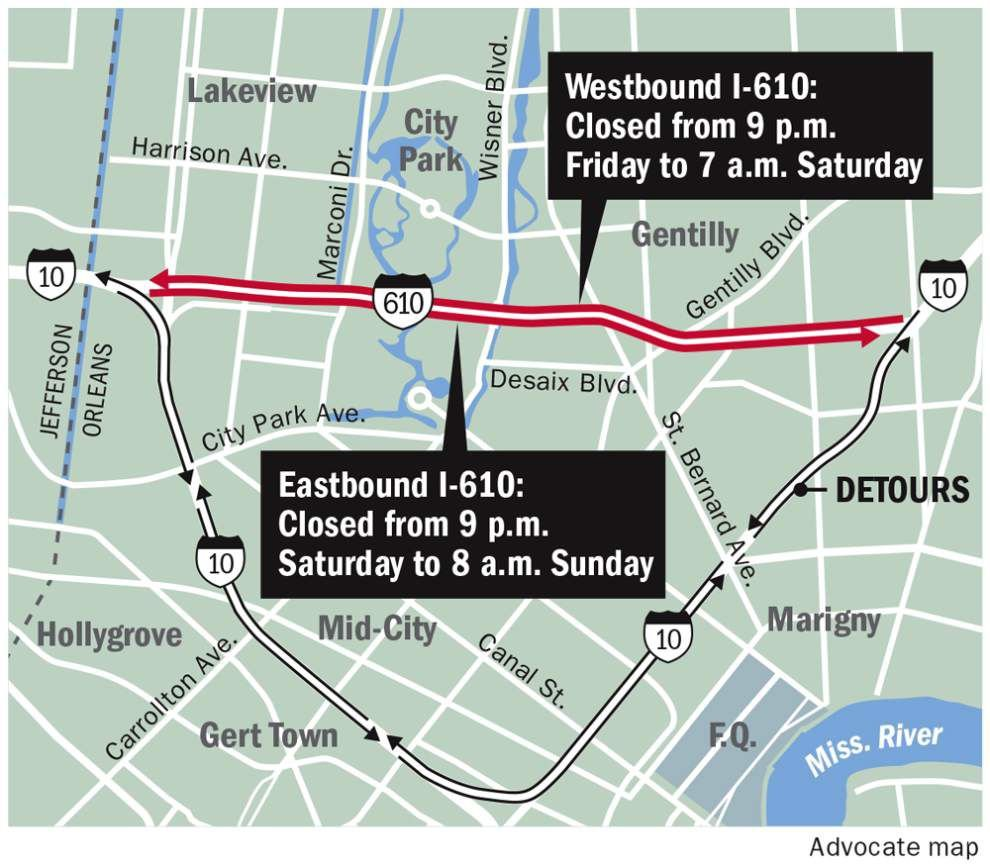 Portions of Interstate 610 to close this weekend _lowres