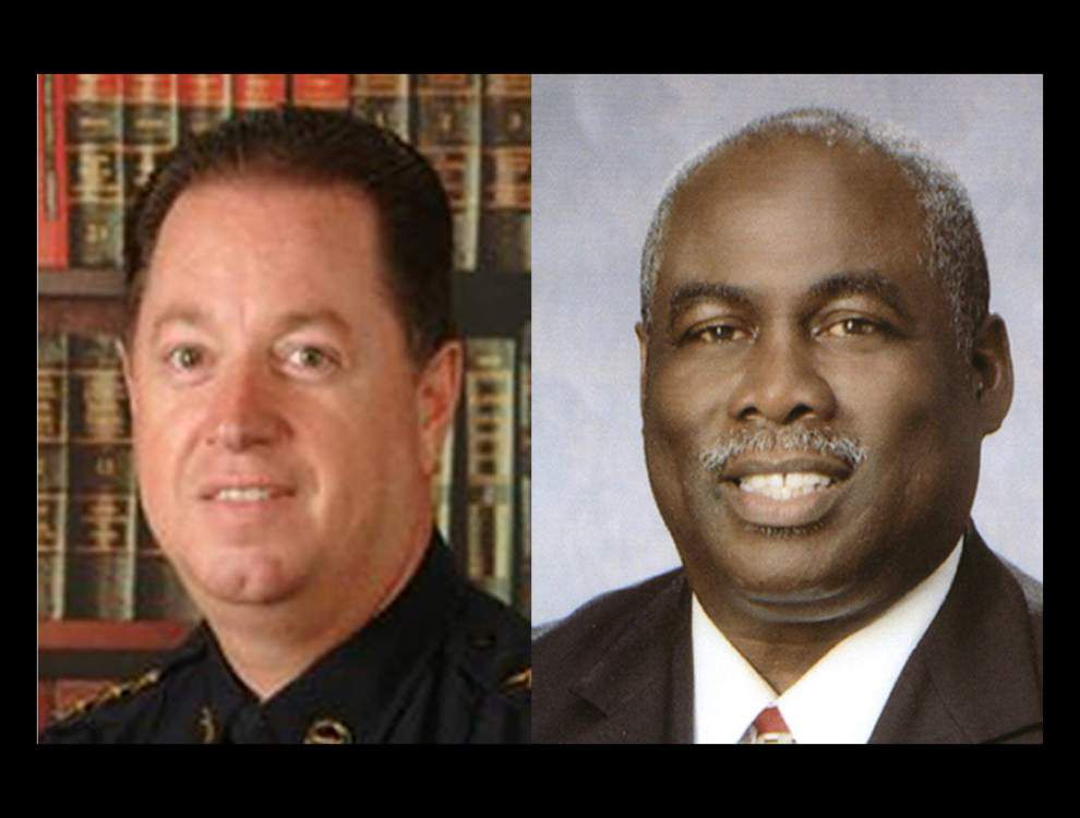 Baker police chief, political opponent trade barbs at City Council meeting, and continue their tirade outside _lowres