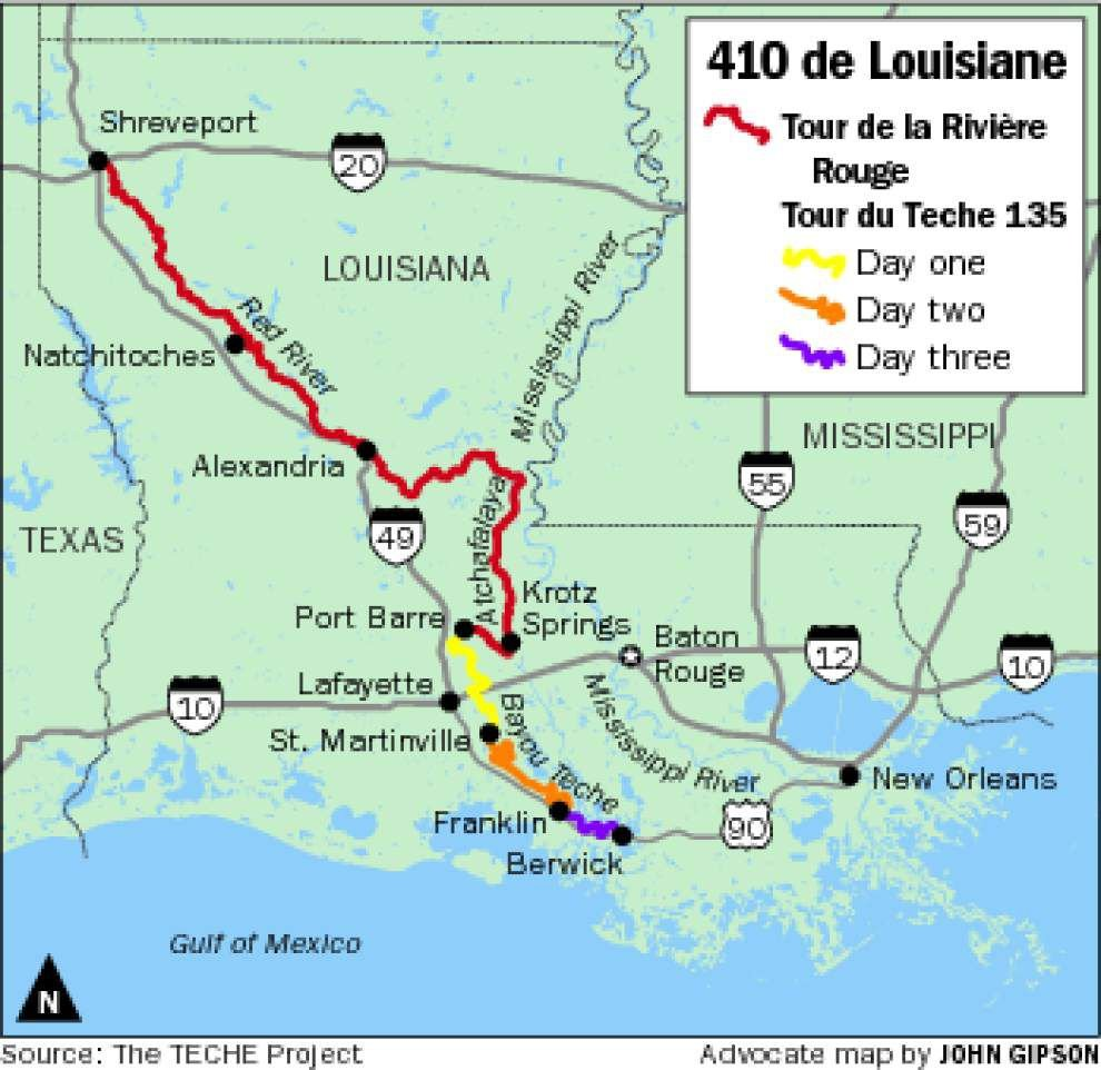 Lafayette's Tour du Teche paddlers' marathon adds round-the-clock 275 mile trip down the Red River _lowres