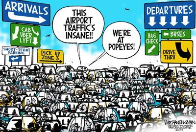 Walt Handelsman: Snarled Traffic