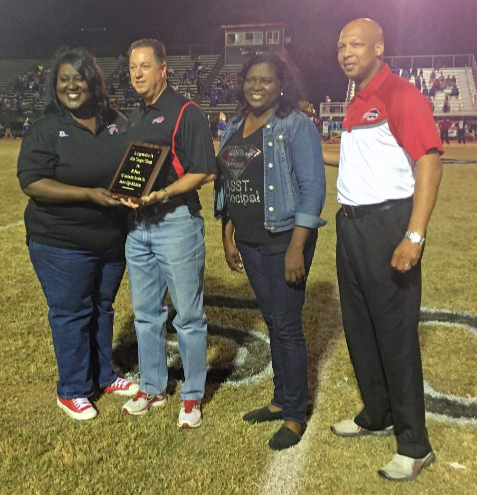 Baker High School honors police chief _lowres