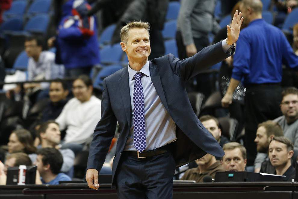 Video: Despite their great start, Golden State coach Steve Kerr says the Warriors are no threat to the 1995-96 Chicago Bulls and their 72 wins _lowres