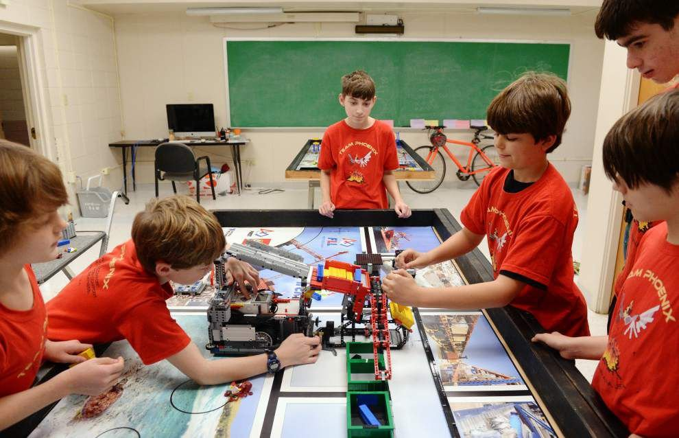 Six middle school science-savvy kids to bring their robot to First Lego League world championship in May _lowres