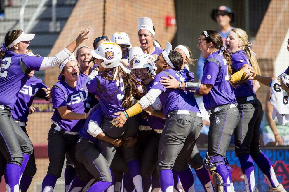 LSU seeded 10th, will host NCAA softball regional _lowres