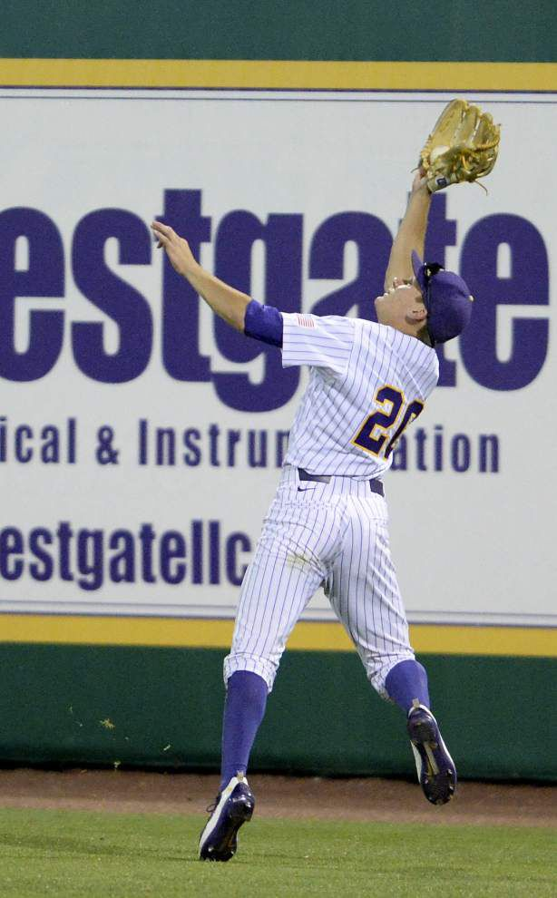 'A total breakdown': Austin Sanders stymies LSU, which musters two hits in 7-0 loss to McNeese _lowres