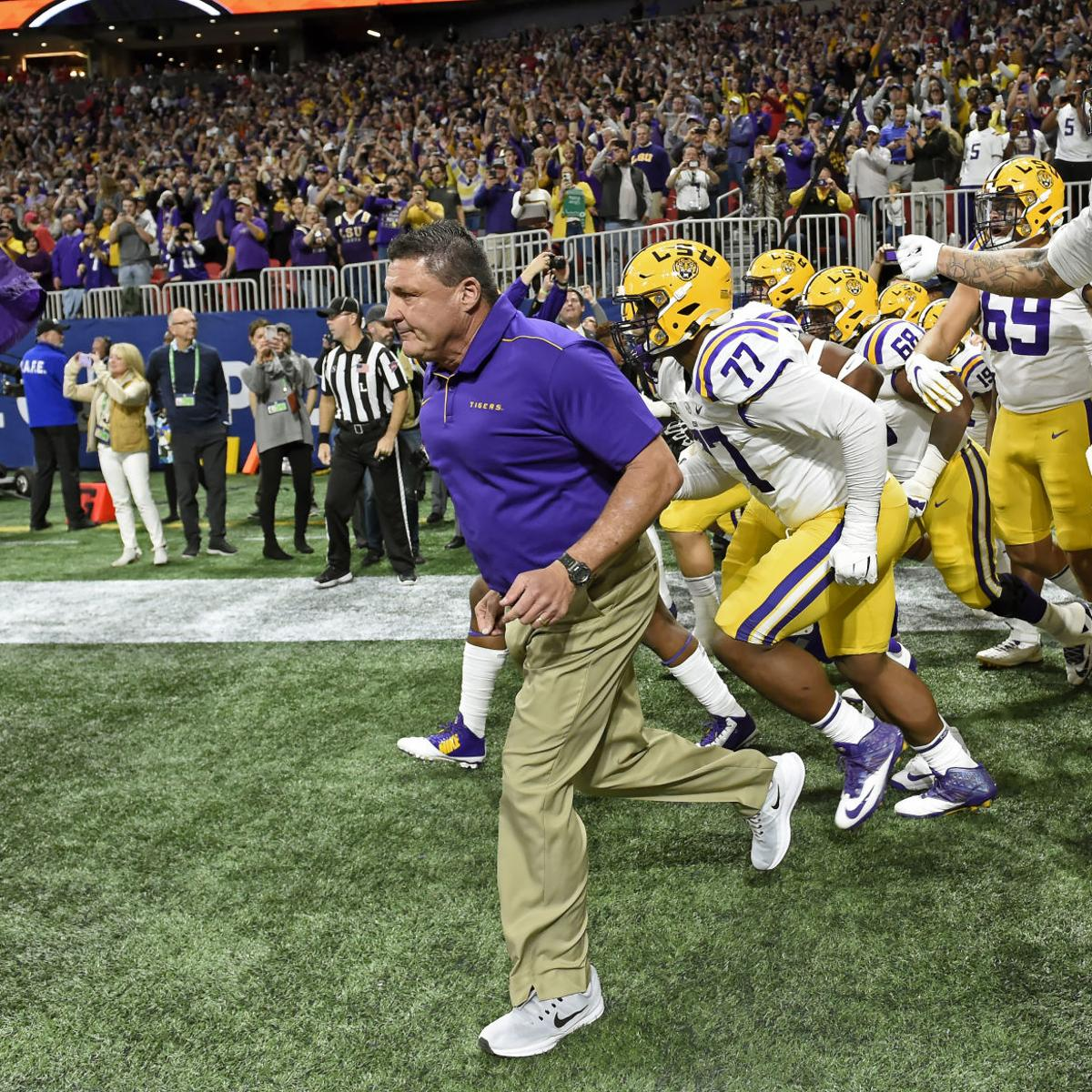 Ed Orgeron Named Ap Coach Of The Year He S Third Lsu Coach