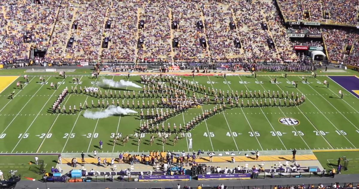 LSU marching band Veterans Day