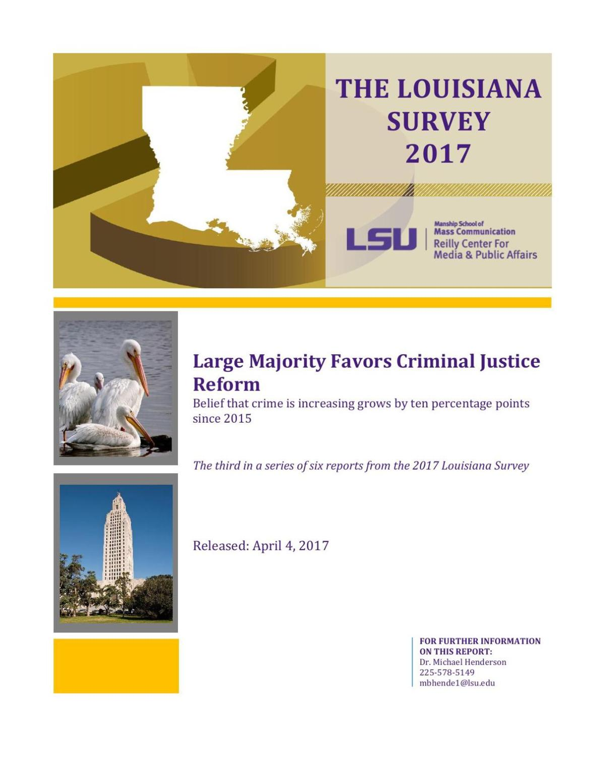Louisiana Survey 2017: Criminal Justice