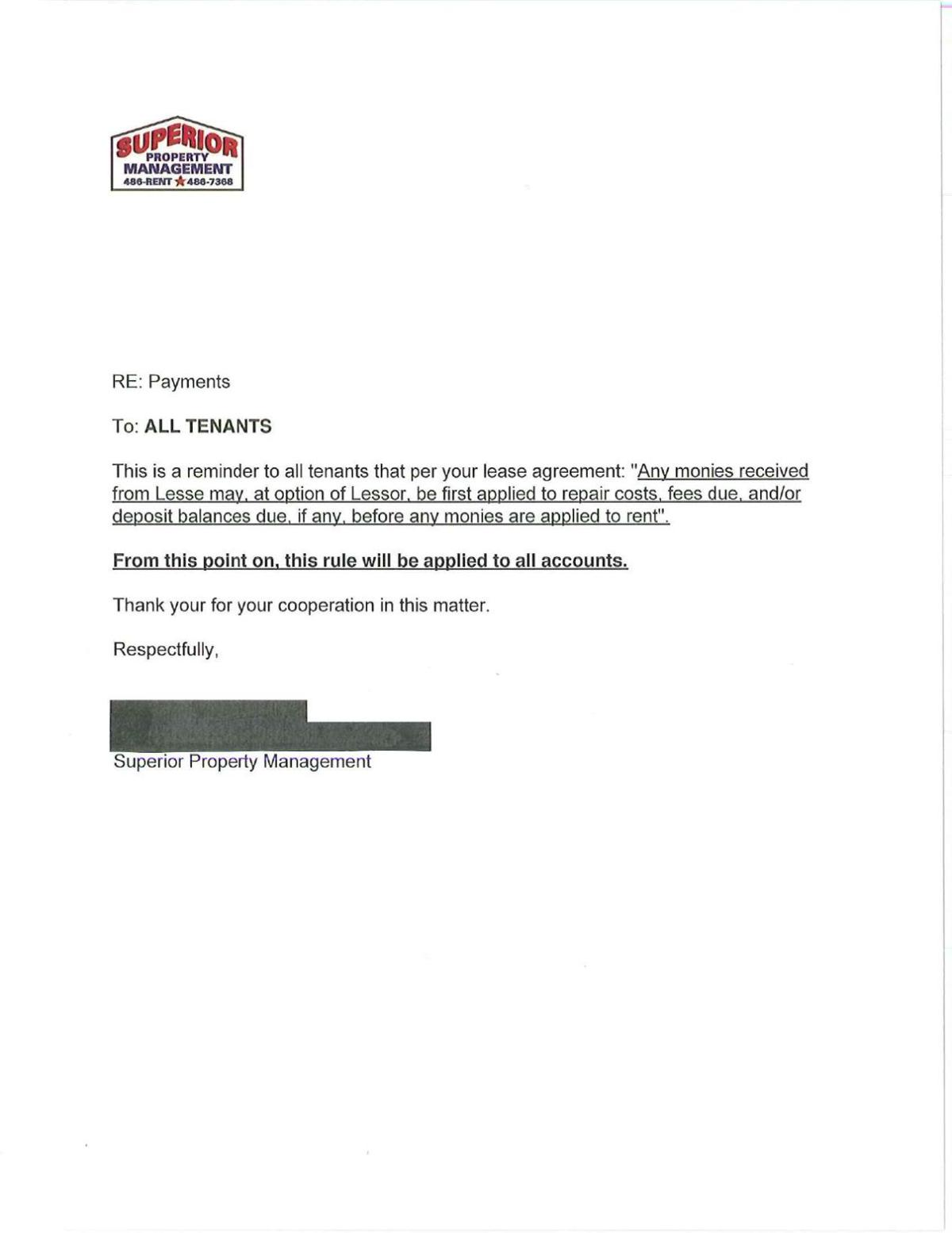 Letter from Superior 2
