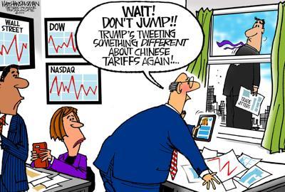 Walt Handelsman: More Trade Jitters