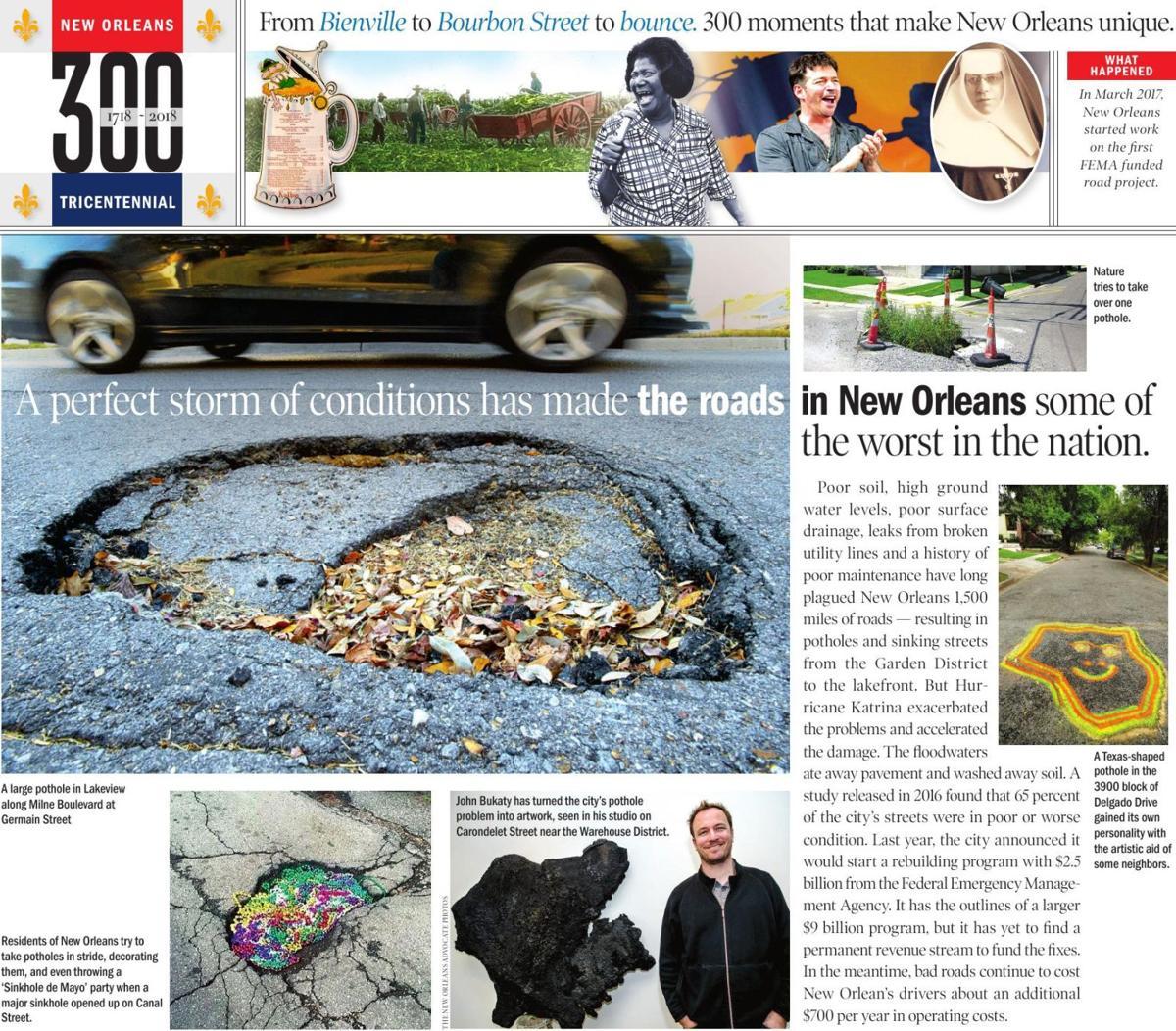 300 unique New Orleans moments: Potholes, street problems and FEMA