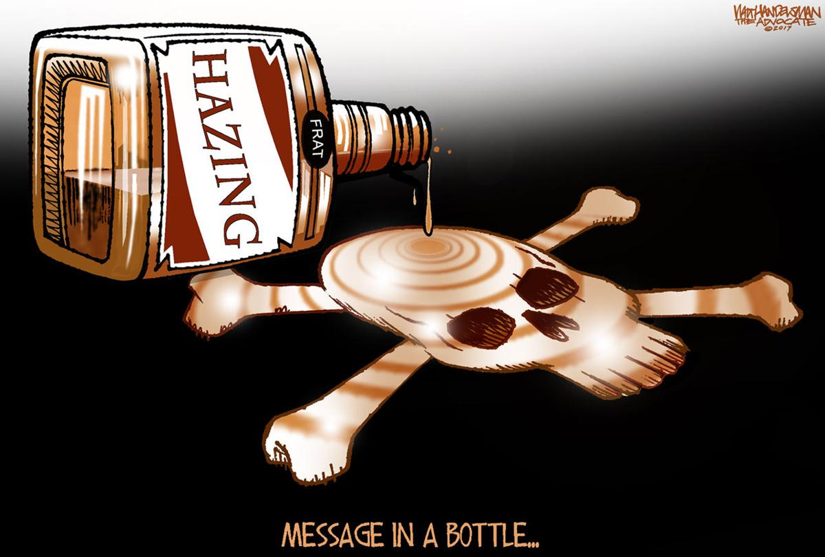 Walt Handelsman: Tragic Hazing Message