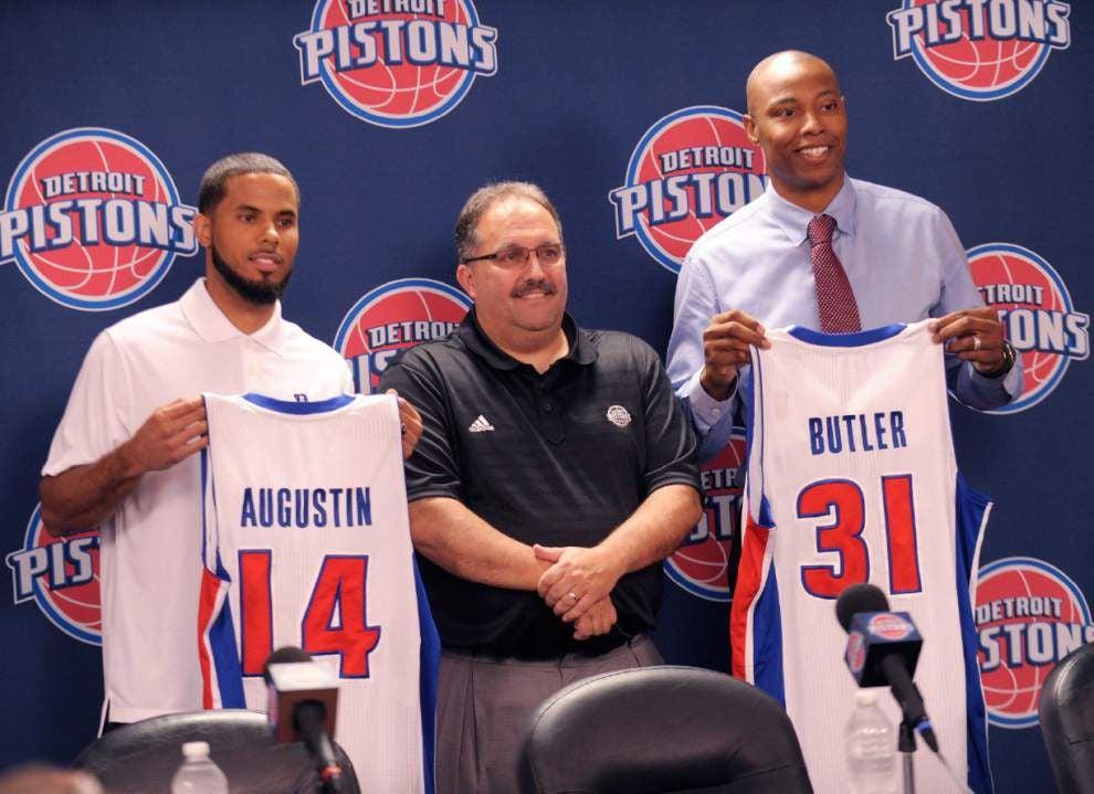 Pistons introduce D.J. Augustin, Caron Butler _lowres