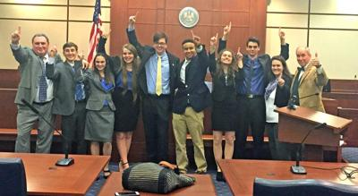 Zachary High School wins mock trial tournament _lowres