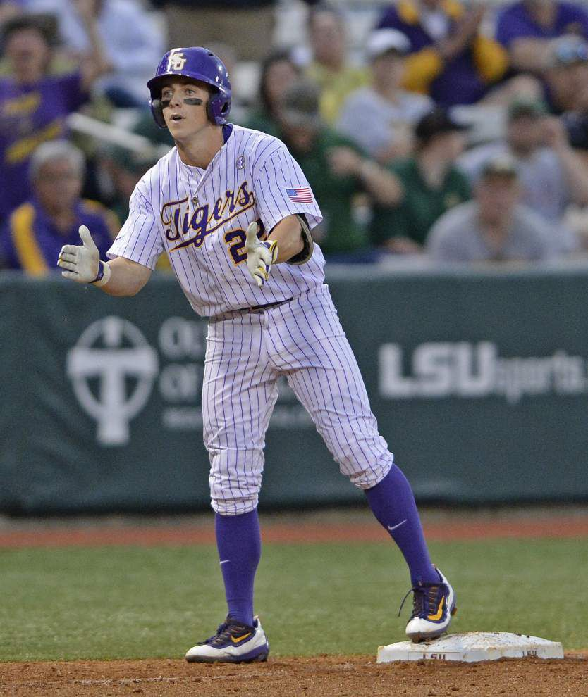 After a two-plus-hour rain delay, LSU stays focused to get an elusive midweek win over Southeastern _lowres