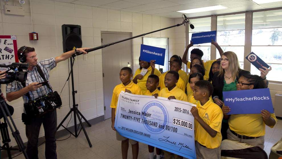 West Baton Rouge teacher, Iberville principal surprised with Milken Educator Awards — and $25,000 each _lowres