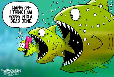 FISH ON!!! Check out who reeled-in the WINNER and finalists spots in Walt Handelsman's latest Cartoon Caption Contest.
