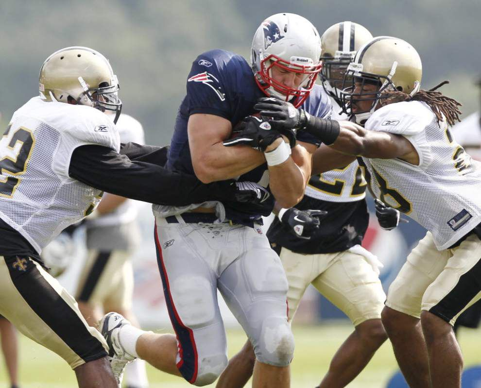 Saints ready to get new look against Patriots _lowres