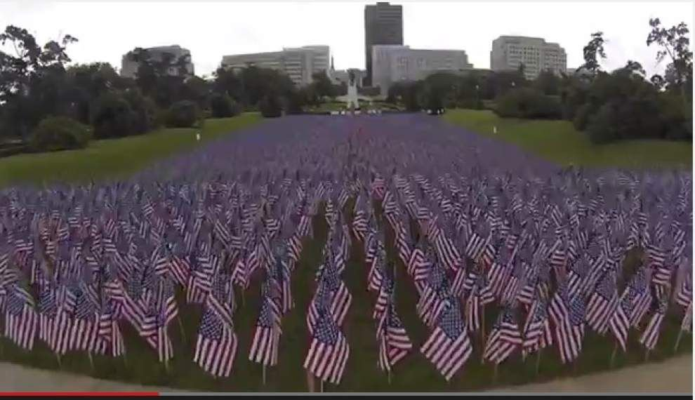 Video: Blue Star Mothers plant 11,000 flags in front of the State Capitol _lowres