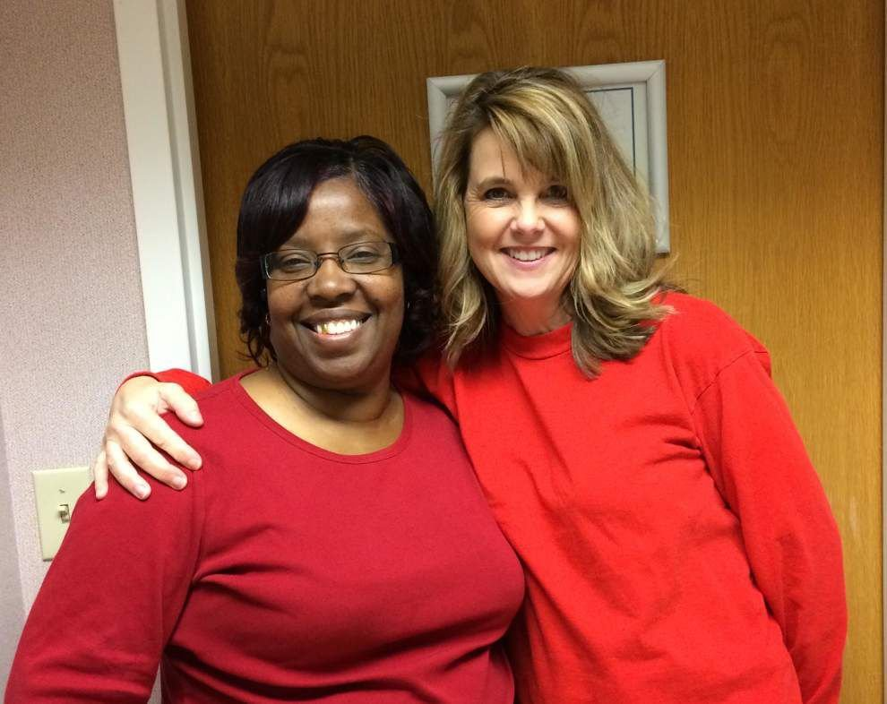 Lane goes red for American Heart Month _lowres