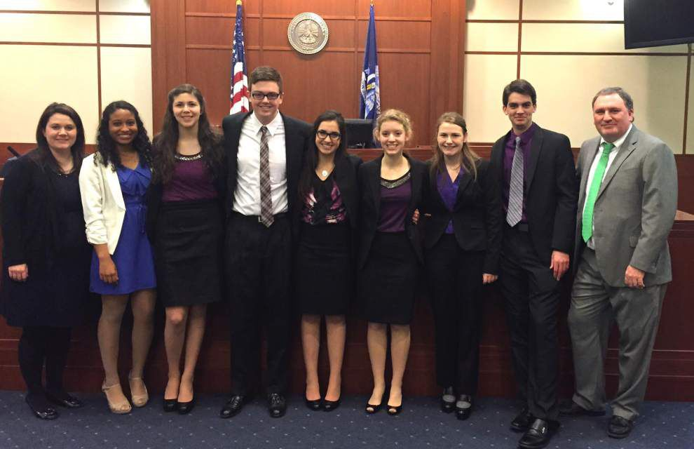 Zachary High's mock trial team repeats as state regional champs _lowres
