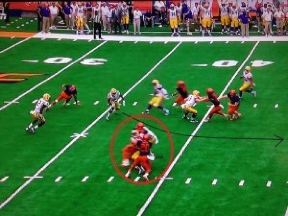 Film Room: Unscripted 'Flip to Fournette,' other big plays, analysis of LSU's win at Syracuse _lowres