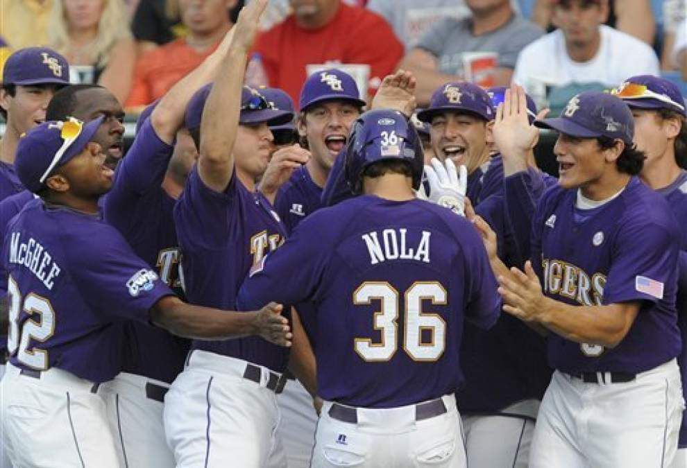 Zephyrs shortstop Austin Nola returns to Omaha where he led LSU to 2009 College World Series title _lowres